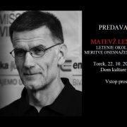 Predavanje: Matevž Lenarčič